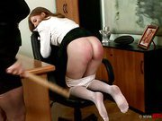 Madam spanks her naughty student